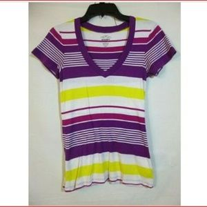 Old Navy Multi-Colored striped T-Shirt Size Med.